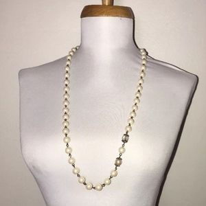 "Banana Republic Pearl Necklace 31"" Career Classic"